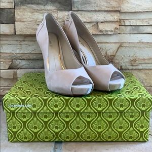 Gianni Bini heels with gold details